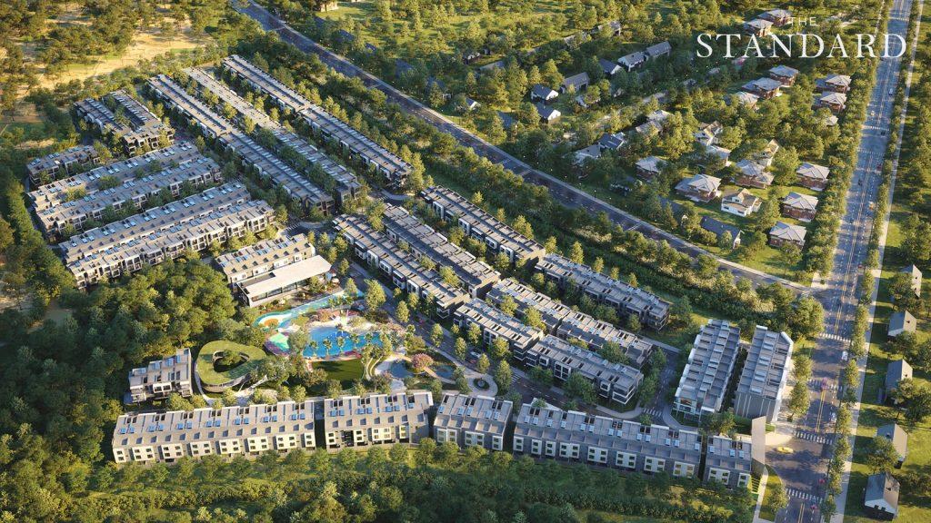 Giới doanh nhân Việt Nam ngày càng ưa chuộng không gian sống trong các khu biệt lập Ảnh phối cảnh The Standard Central Park: An Gia.