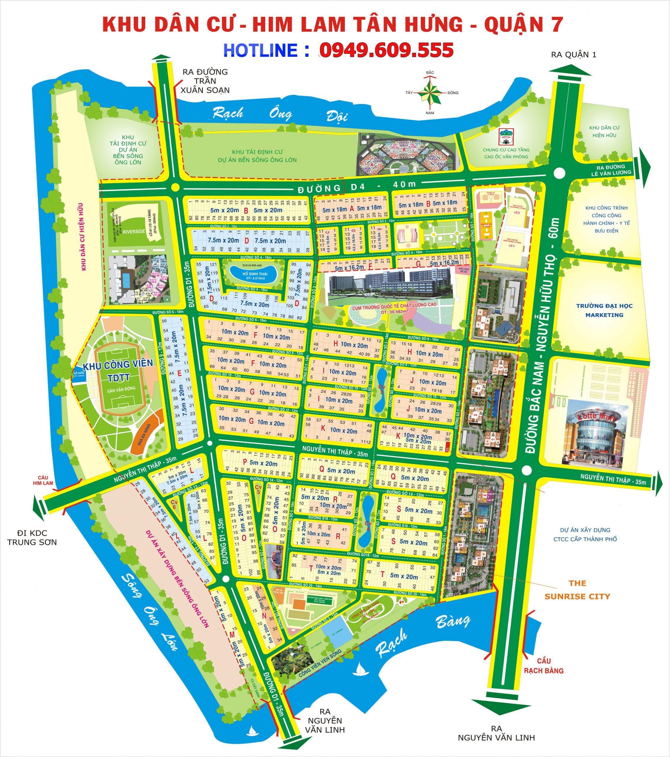 Mặt bằng Quy hoạch tổng thể Khu dân cư Him Lam