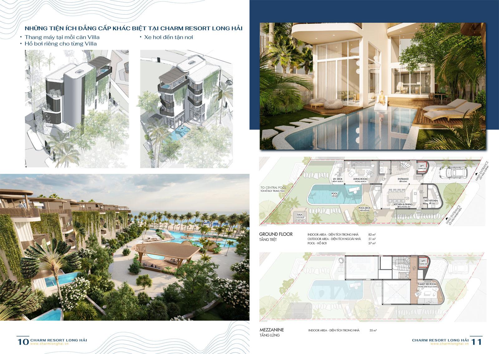 Mặt bằng Villas (tầng 1)