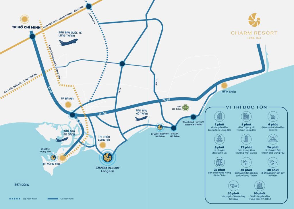 Vị trí Vàng còn sót lại tại Long Hải - Charm Resort